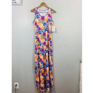LULAROE NWT Vibrant Sleeveless Dani Maxi Dress S
